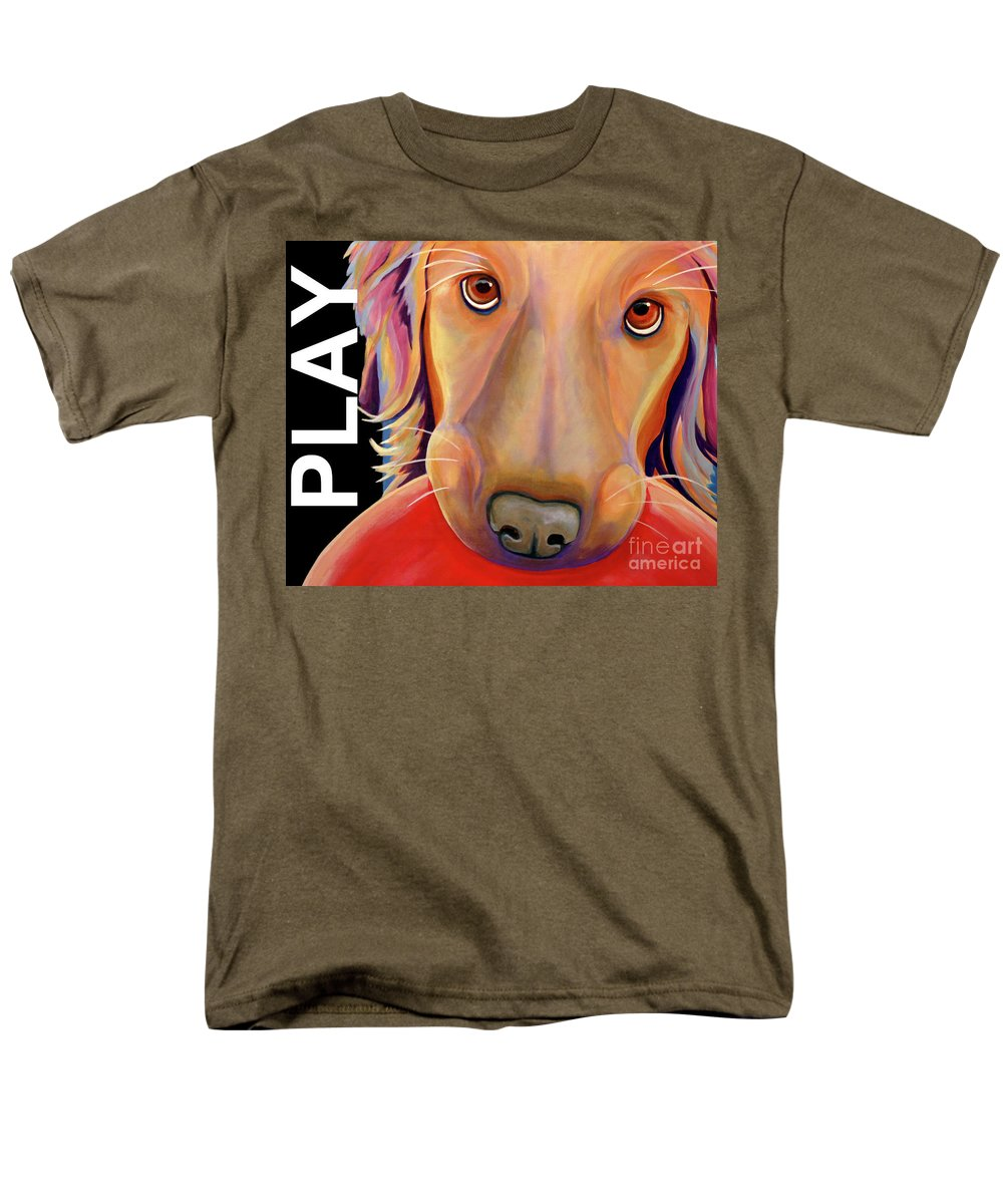 Play Men's T-Shirt (Regular Fit) featuring the painting Play More by Jody Wright