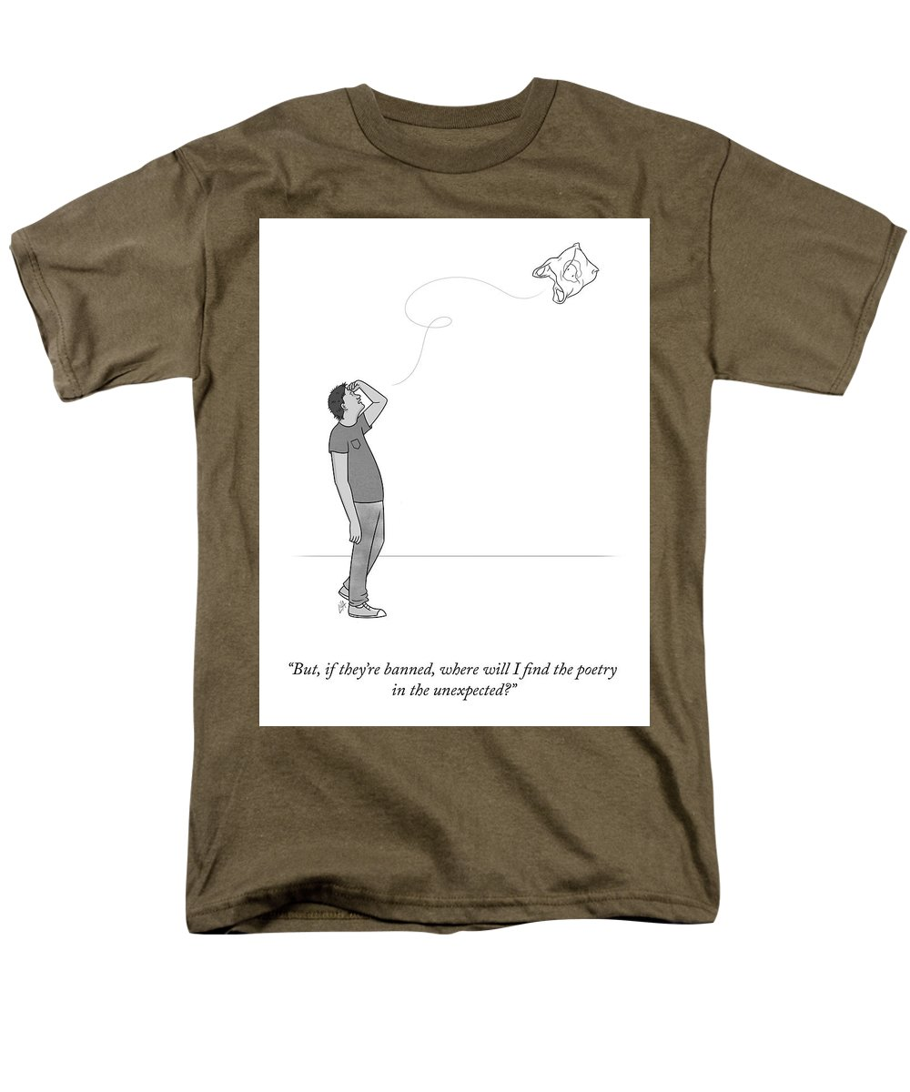 But Men's T-Shirt (Regular Fit) featuring the drawing Poetry In The Unexpected by Lila Ash