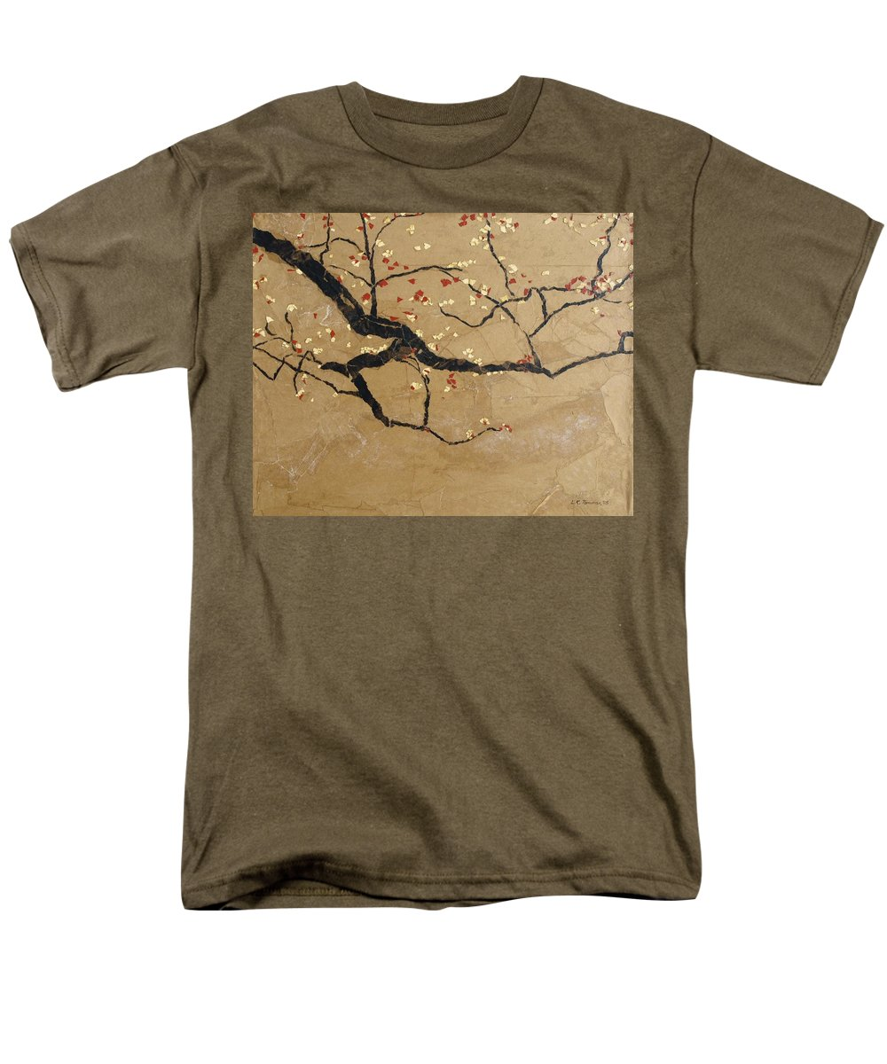 Blooming Branch Men's T-Shirt (Regular Fit) featuring the painting Branch by Leah Tomaino