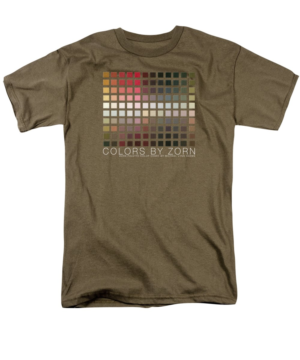 Zorn Color Palette Men's T-Shirt (Regular Fit) featuring the painting Colors By Zorn by Michael Lynn Adams
