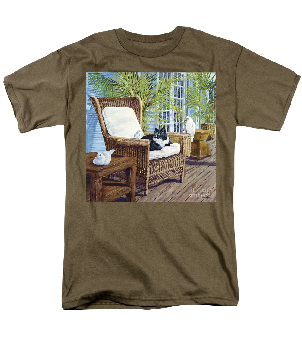 Dove Men's T-Shirt (Regular Fit) featuring the painting Friends by Danielle Perry