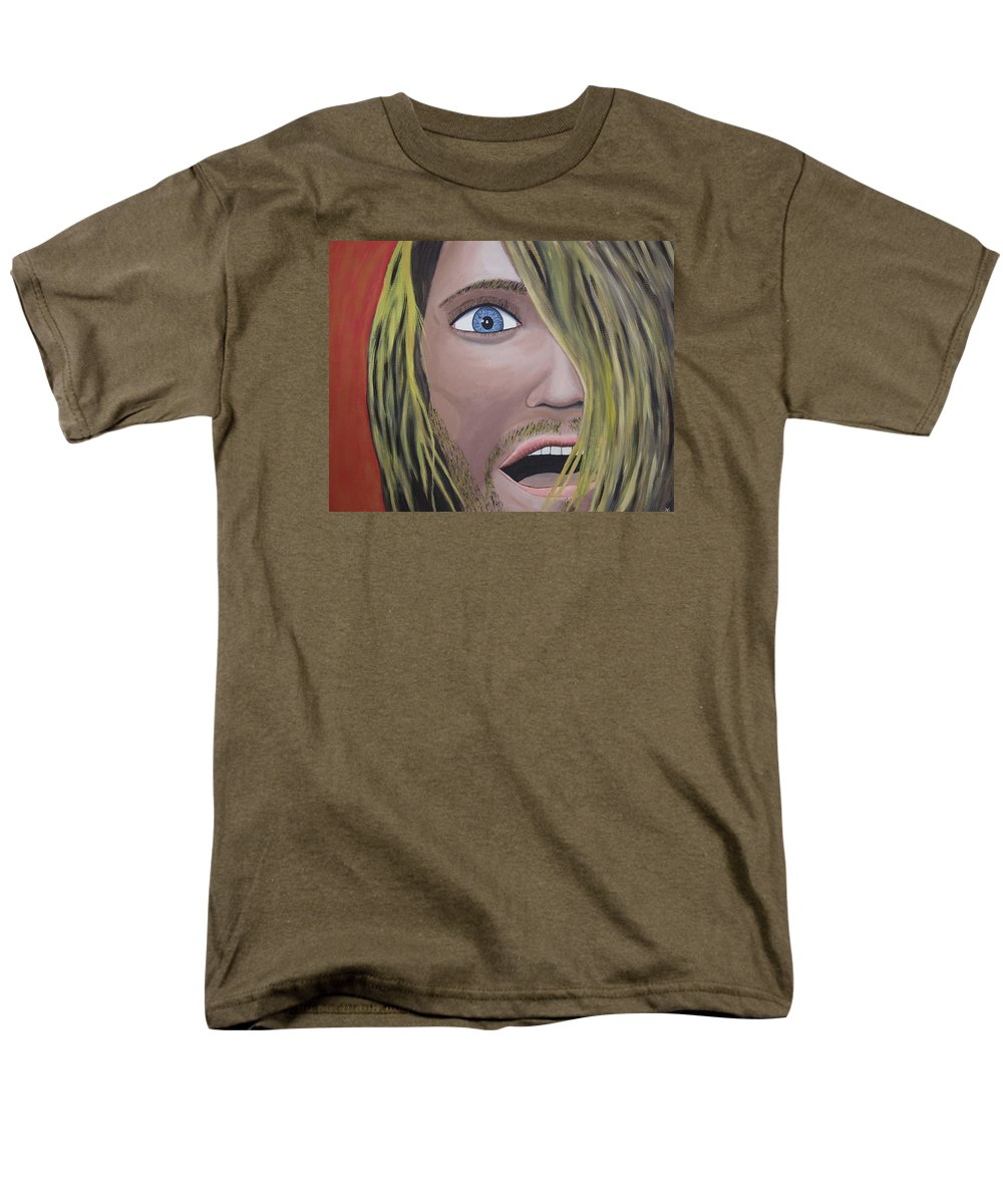 Legendary Men's T-Shirt (Regular Fit) featuring the painting I think I am happy again by Dean Stephens