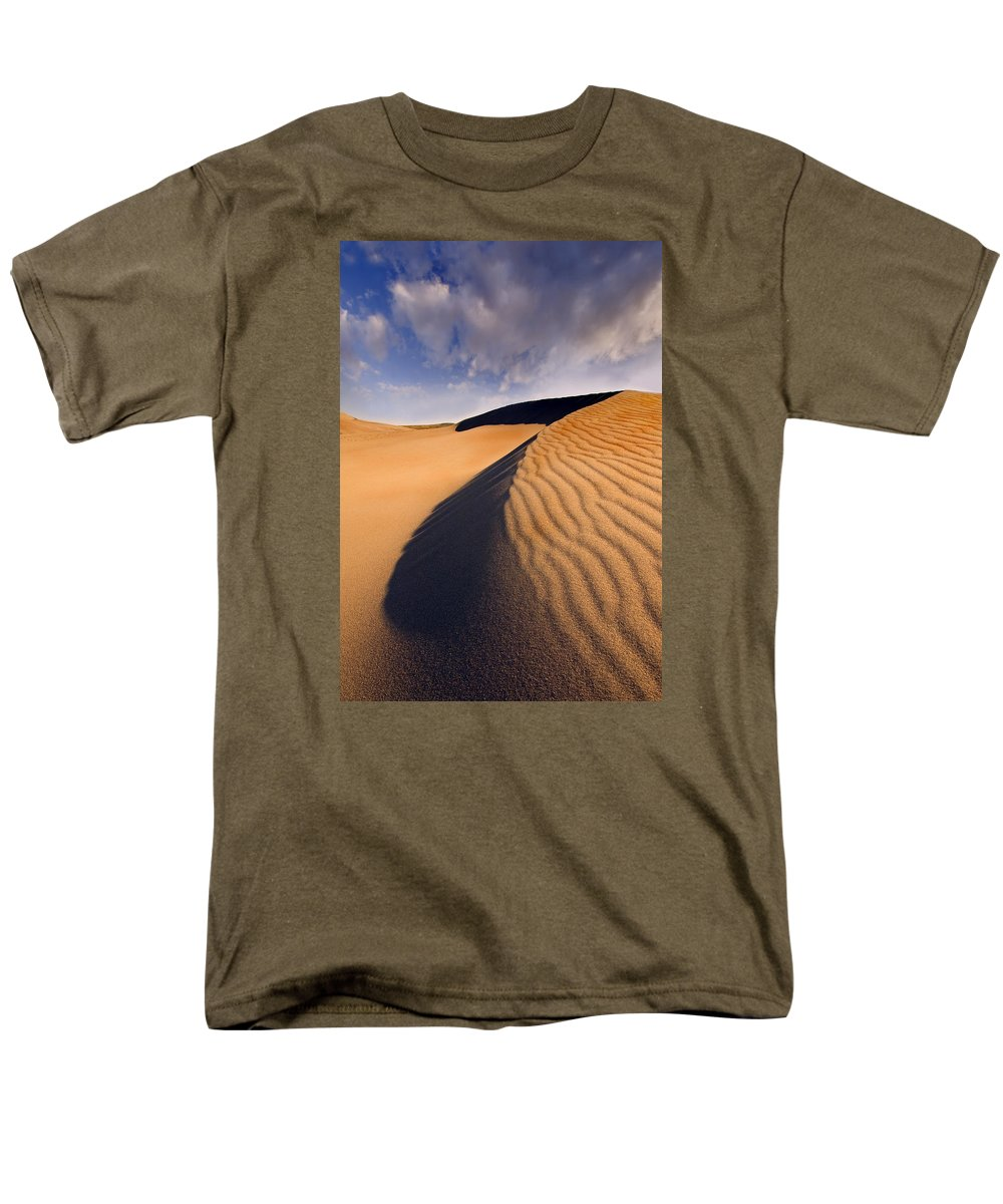 Sand Dune Men's T-Shirt (Regular Fit) featuring the photograph Ripples by Mike Dawson
