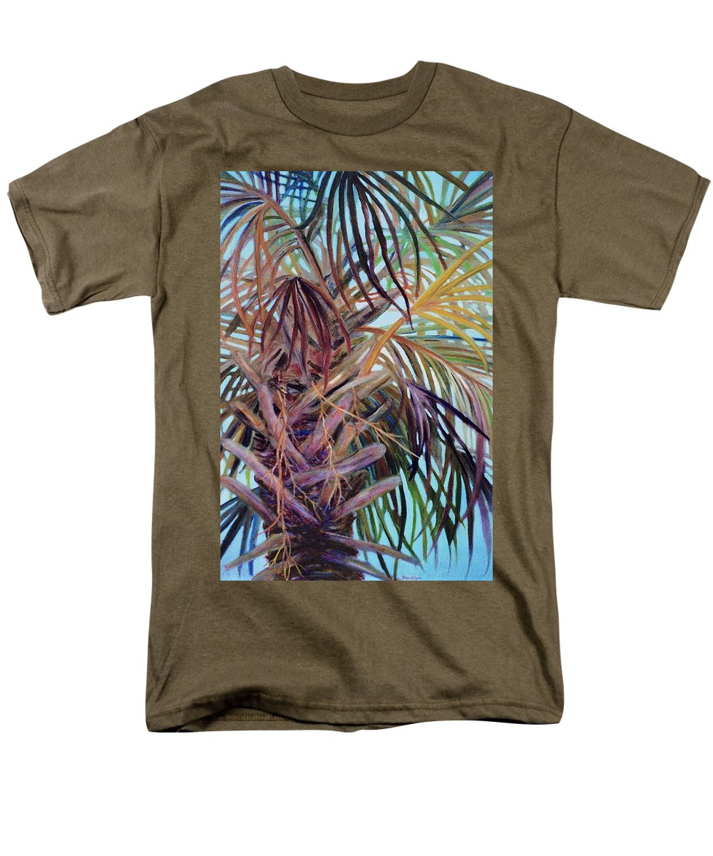 Palm Tree Men's T-Shirt (Regular Fit) featuring the painting The Palm by Ben Kiger