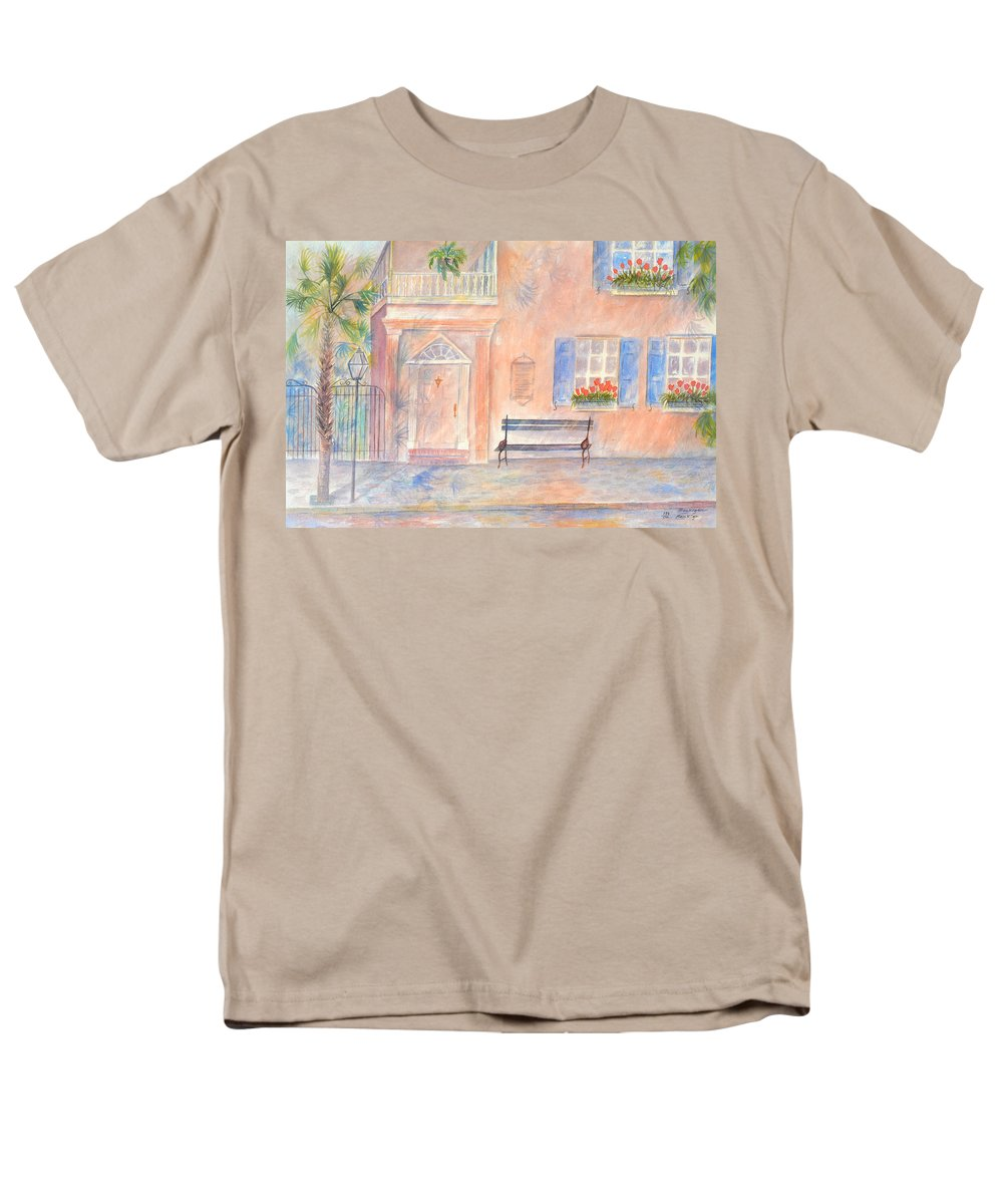 Charleston Men's T-Shirt (Regular Fit) featuring the painting Sunday Morning in Charleston by Ben Kiger