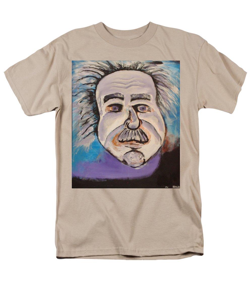 Rick Huotari Men's T-Shirt (Regular Fit) featuring the painting Einstein by Rick Huotari