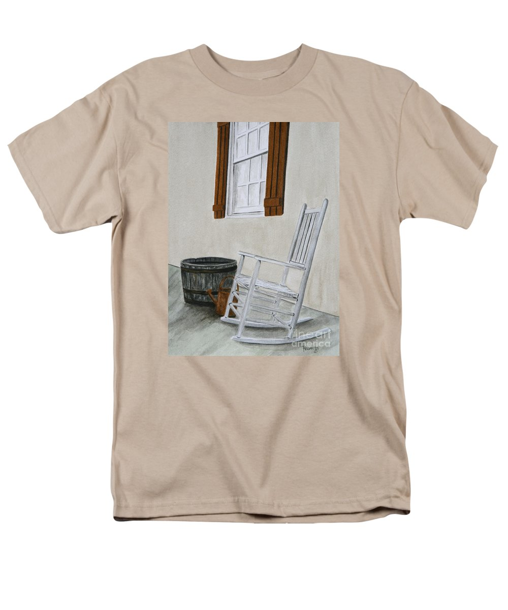 Americana Men's T-Shirt (Regular Fit) featuring the painting Lazy Day by Regan J Smith