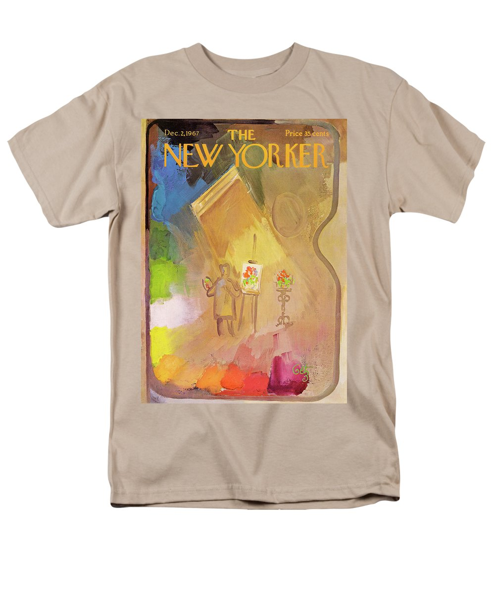 Arthur Getz Agt Men's T-Shirt (Regular Fit) featuring the painting New Yorker December 2nd, 1967 by Arthur Getz