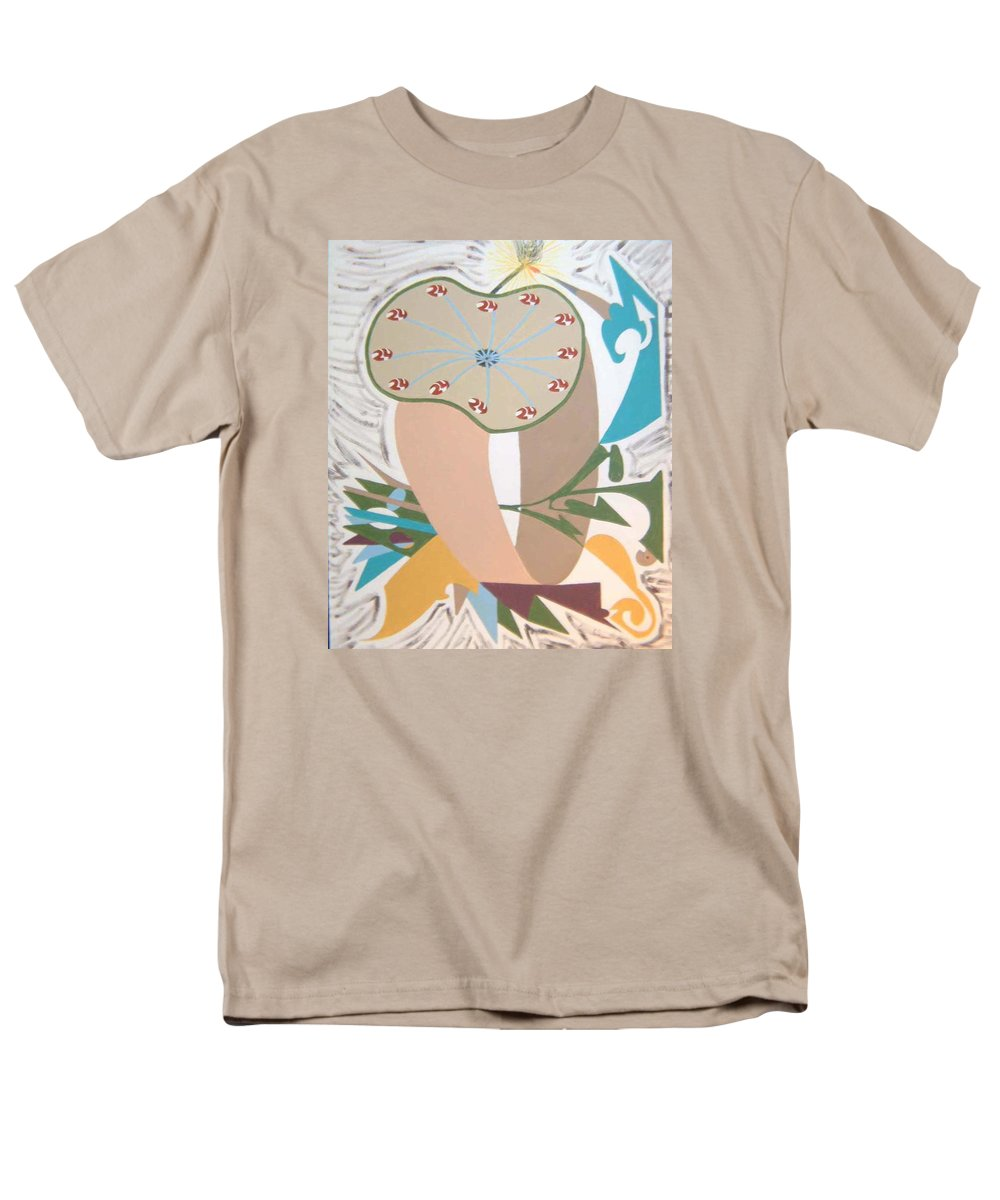 Abstract Men's T-Shirt (Regular Fit) featuring the painting Times up by Dean Stephens