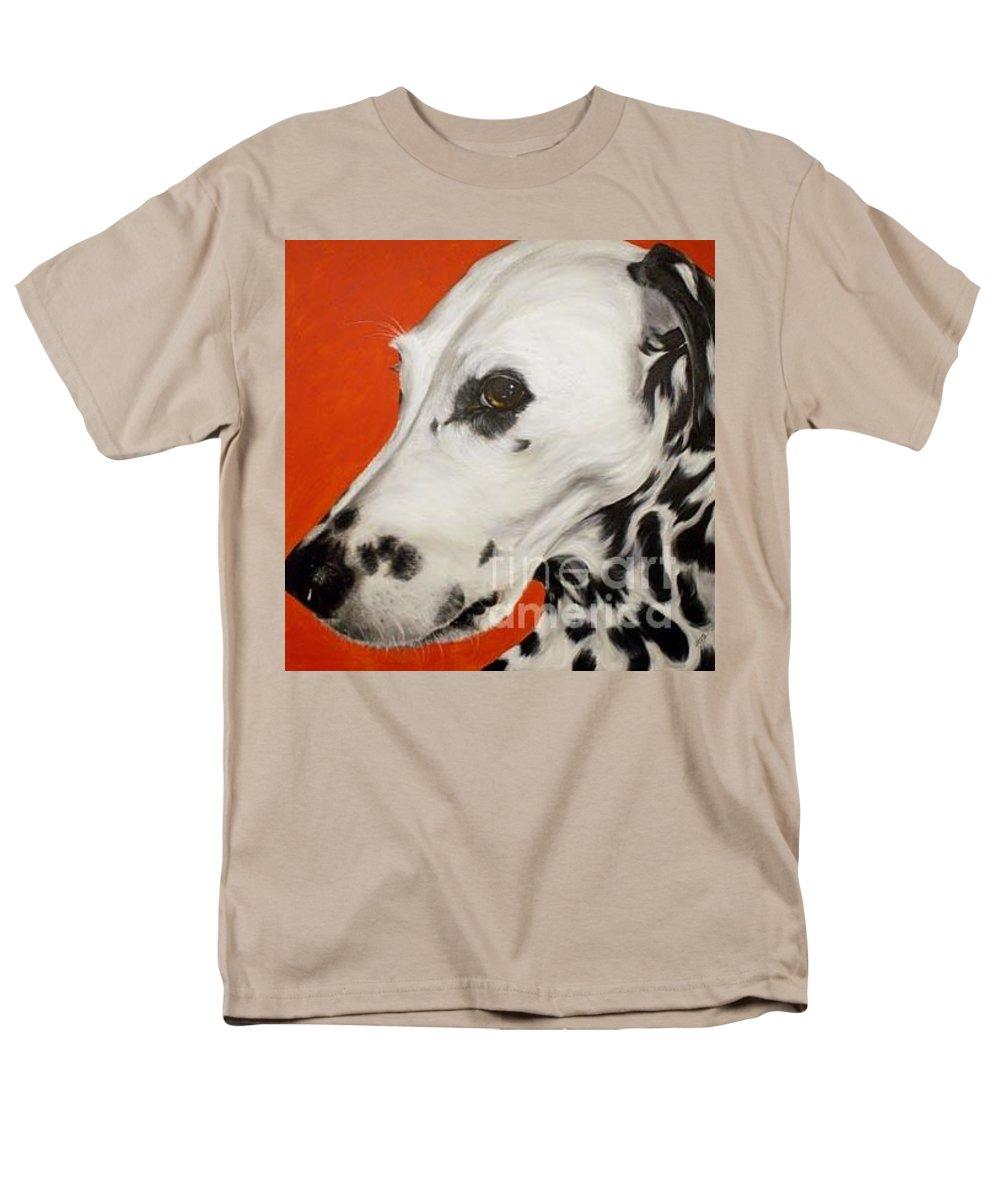 Acrylic Men's T-Shirt (Regular Fit) featuring the painting Polka by Keran Sunaski Gilmore