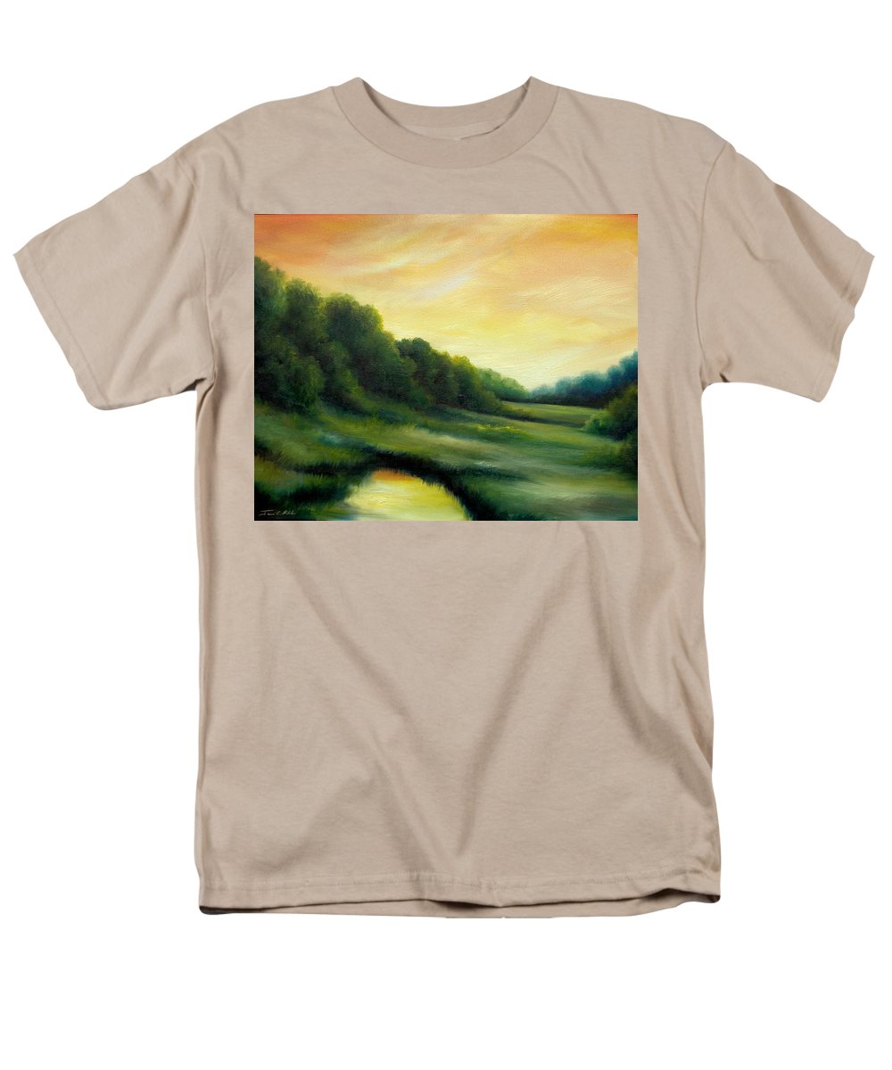 Clouds Men's T-Shirt (Regular Fit) featuring the painting A Spring Evening Part Two by James Christopher Hill