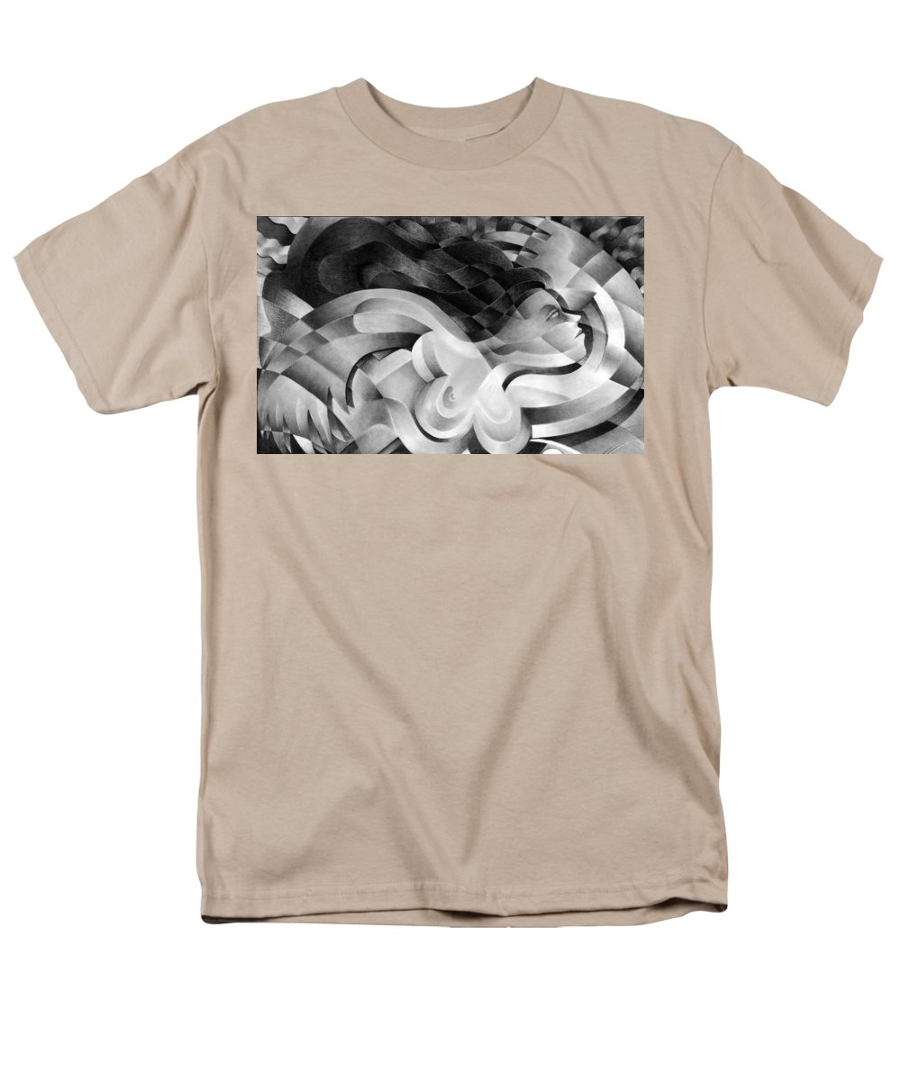 Art Men's T-Shirt (Regular Fit) featuring the drawing Amore by Myron Belfast