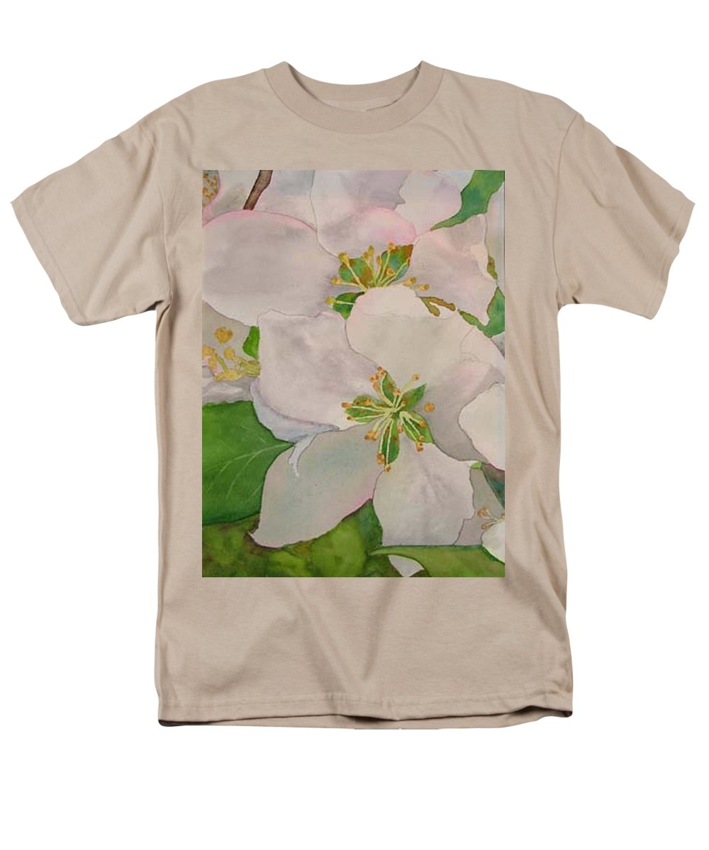 Apple Blossoms Men's T-Shirt (Regular Fit) featuring the painting Apple Blossoms by Sharon E Allen