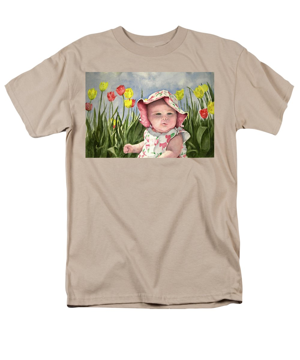 Kids Men's T-Shirt (Regular Fit) featuring the painting Audrey by Sam Sidders
