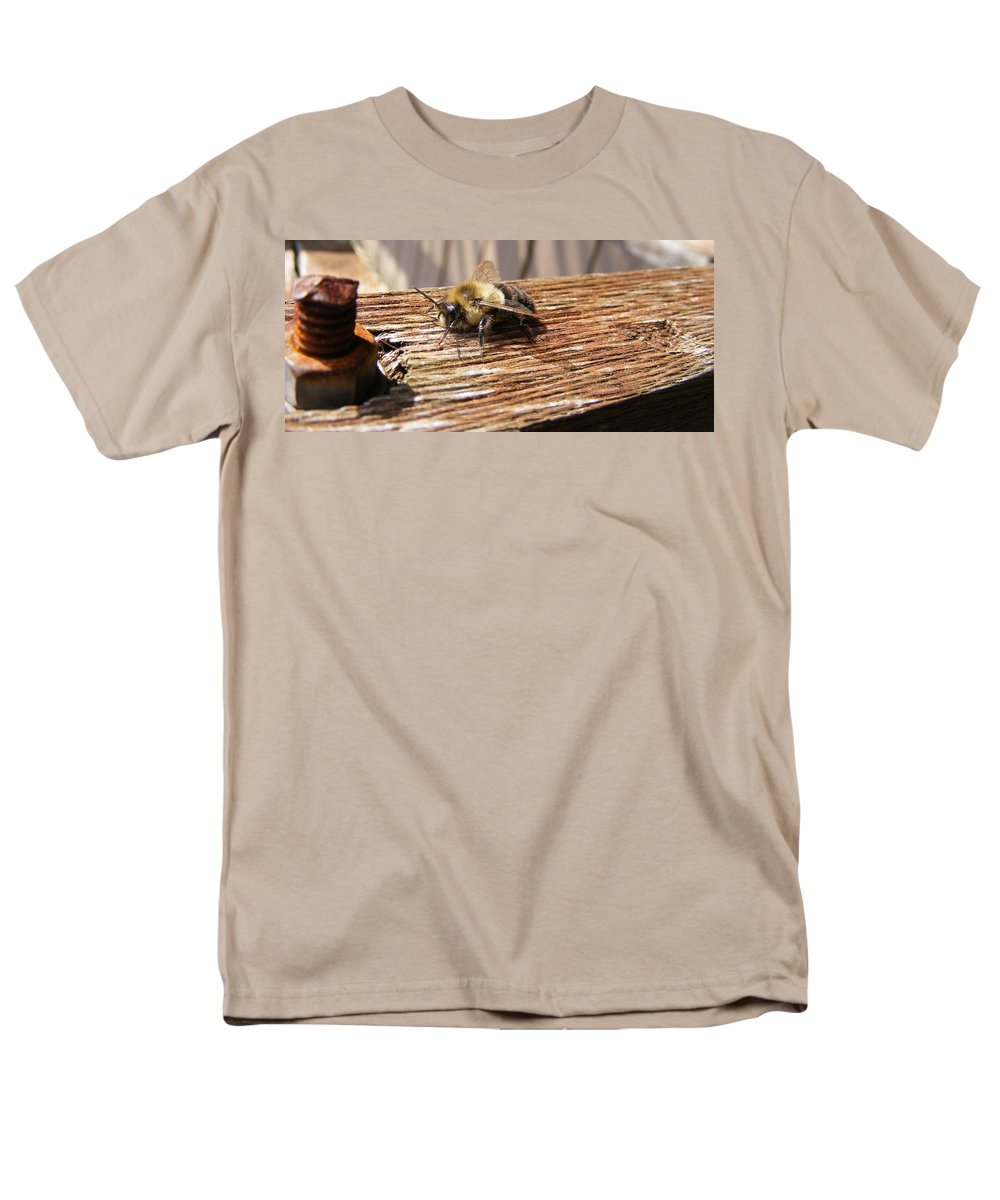 Bee Men's T-Shirt (Regular Fit) featuring the photograph Bee-U-Tiful by Edward Smith