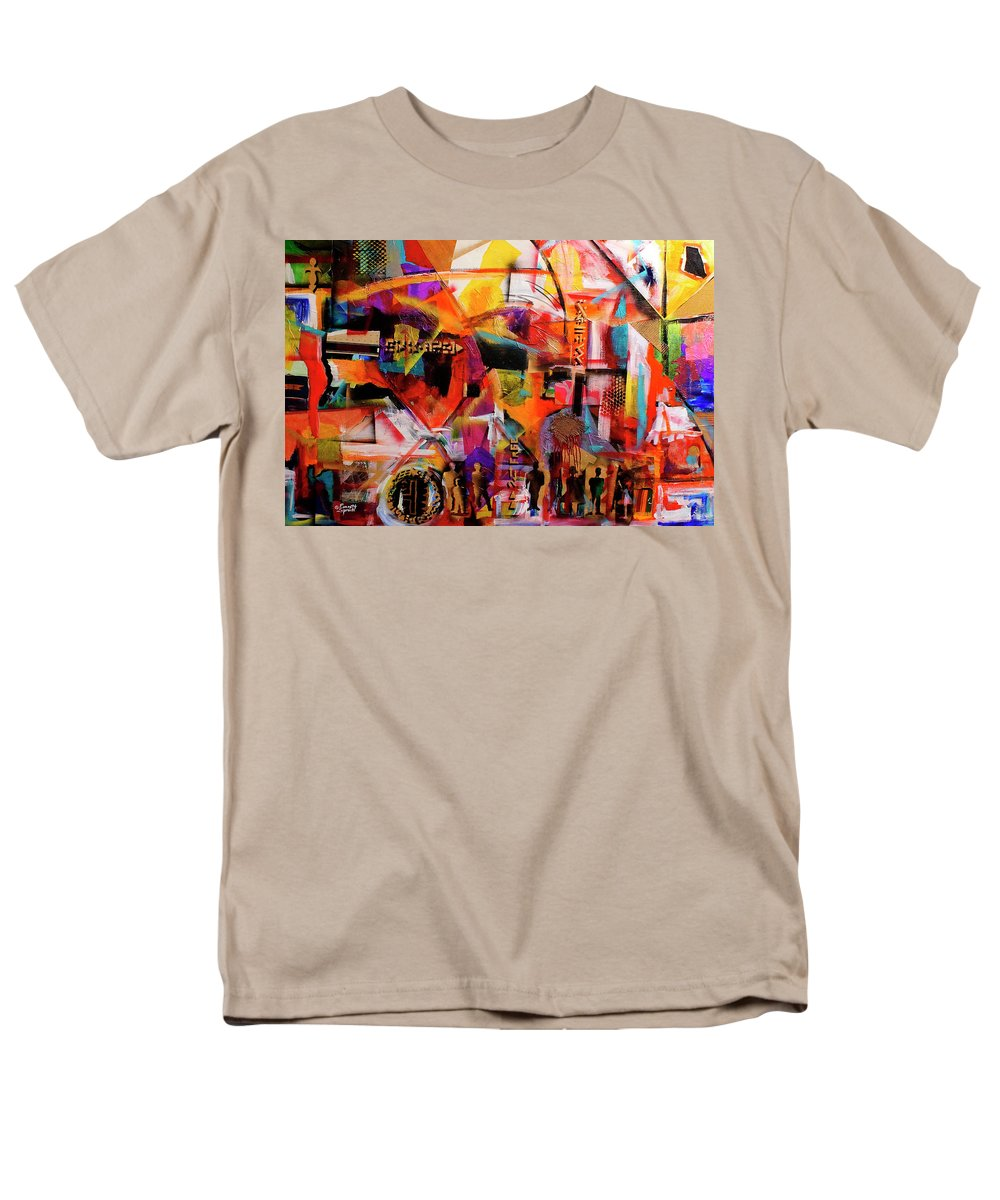 Everett Spruill Men's T-Shirt (Regular Fit) featuring the painting But still like air, we rise by Everett Spruill