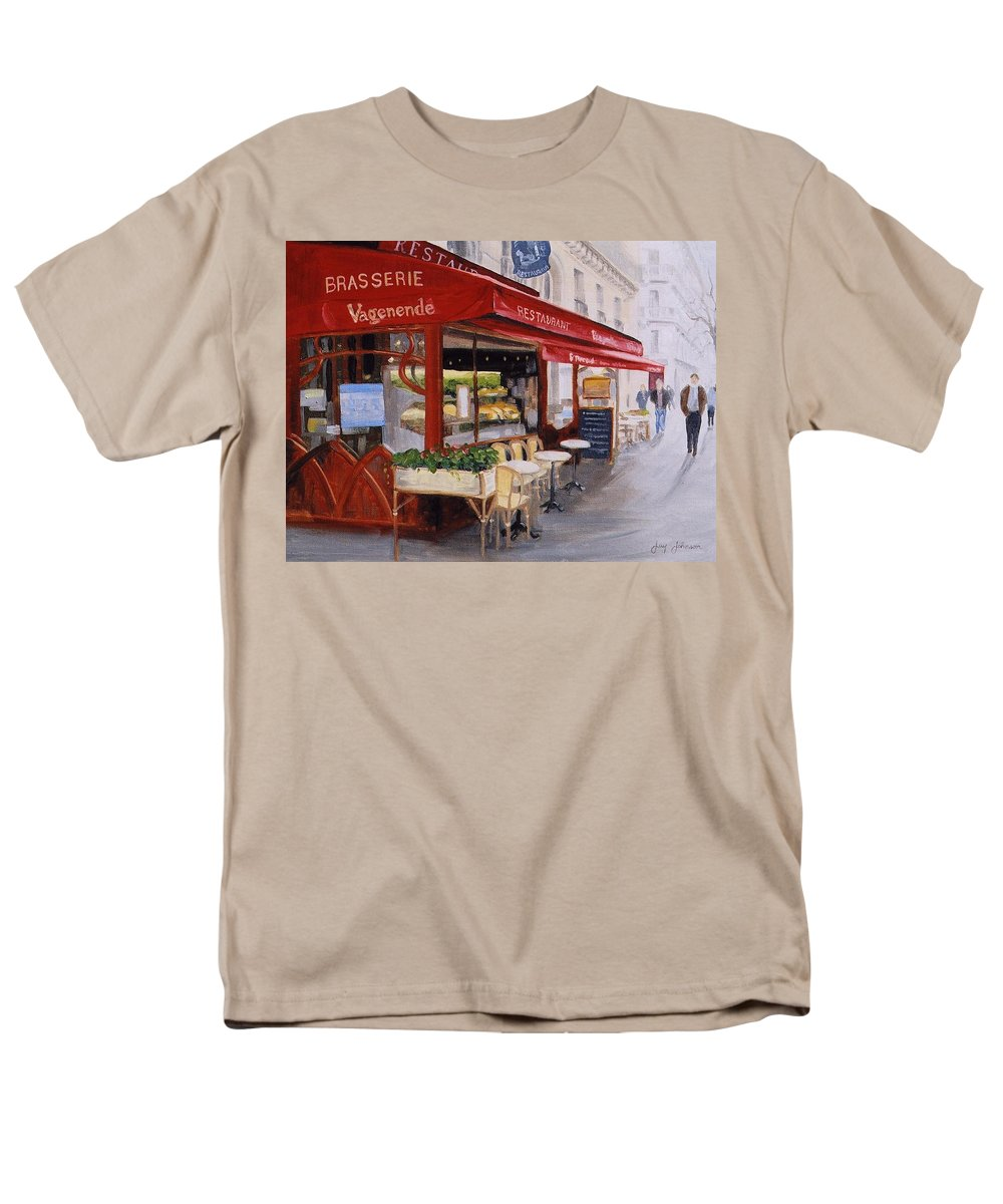 Cafe Men's T-Shirt (Regular Fit) featuring the painting Cafe 4 by Jay Johnson