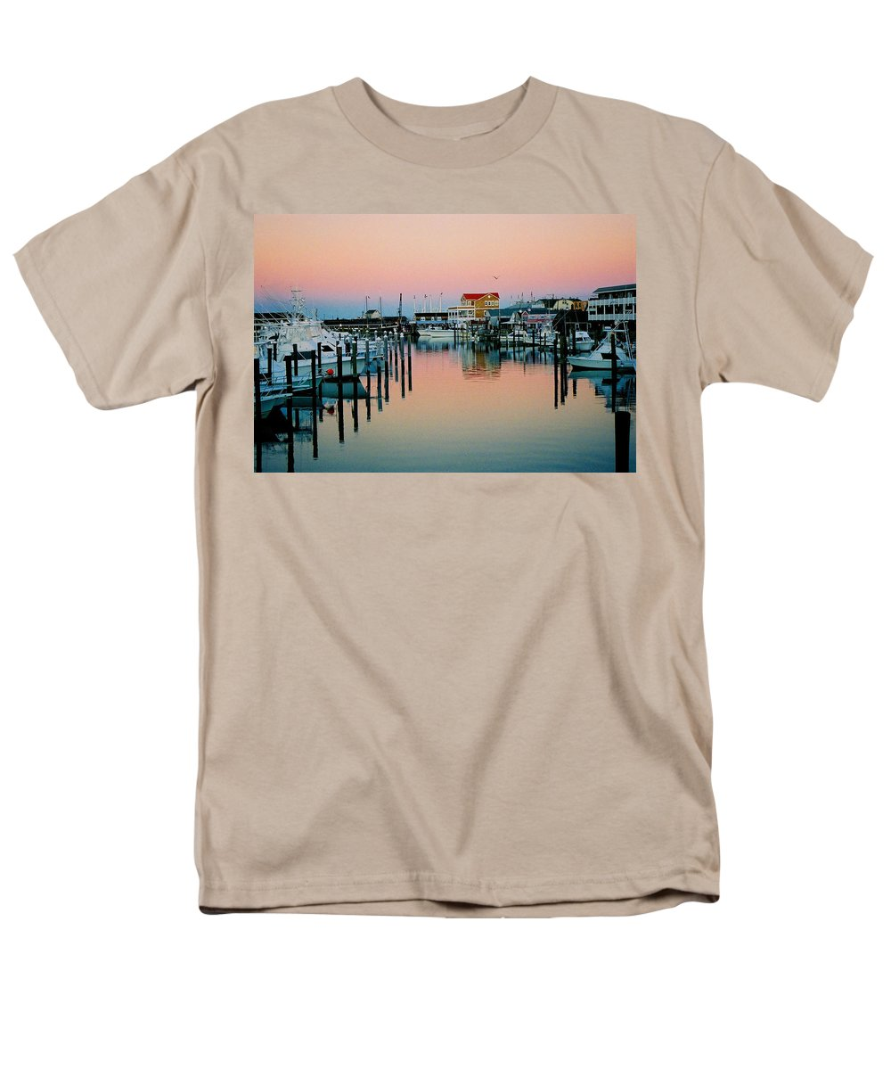 Cape May Men's T-Shirt (Regular Fit) featuring the photograph Cape May After Glow by Steve Karol