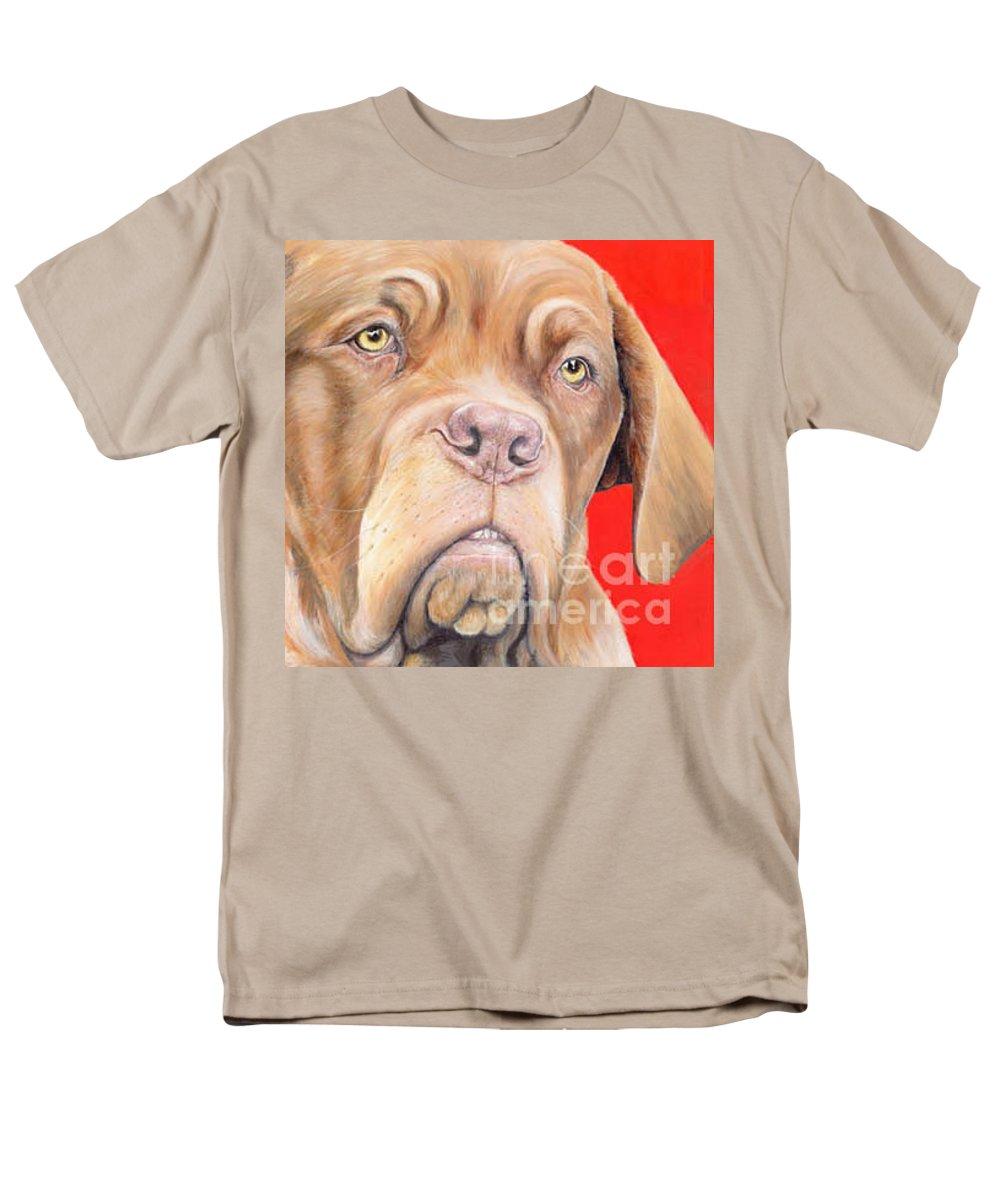 Dogs De Bordeaux Men's T-Shirt (Regular Fit) featuring the painting Chloe by Keran Sunaski Gilmore