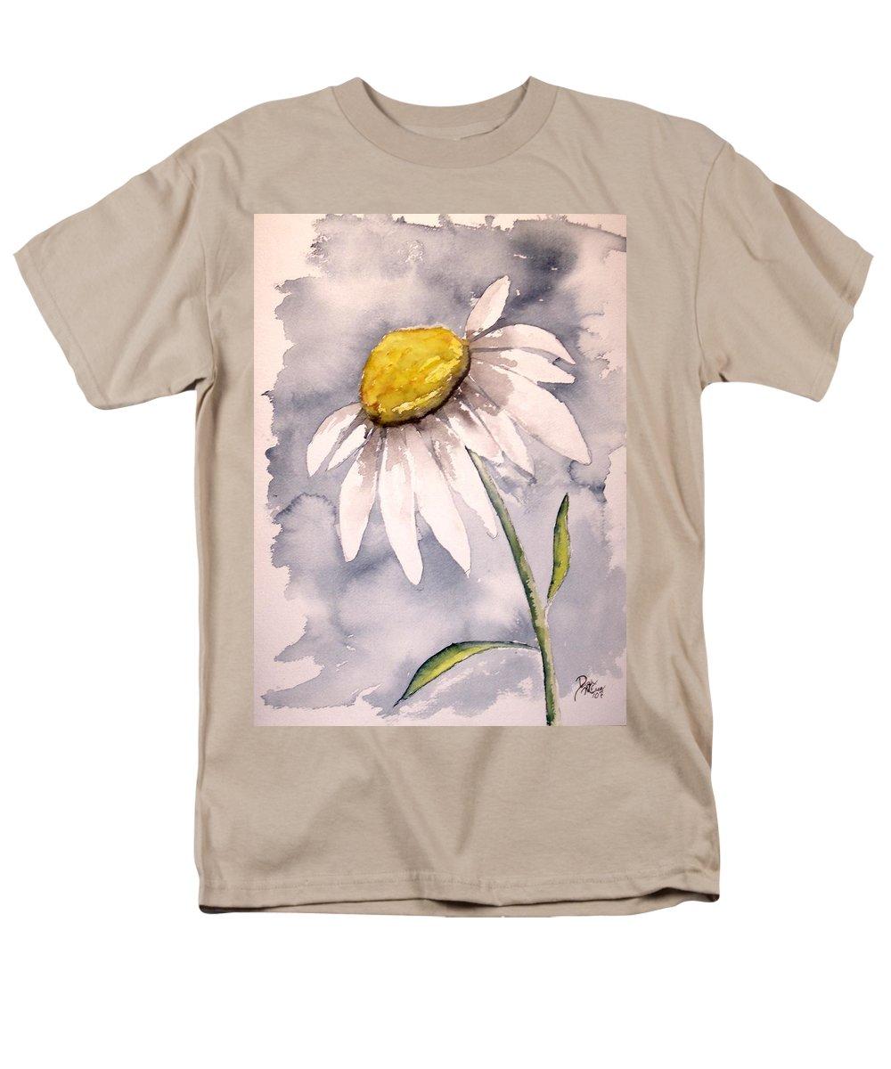 Daisy Men's T-Shirt (Regular Fit) featuring the painting Daisy Modern poster print fine art by Derek Mccrea