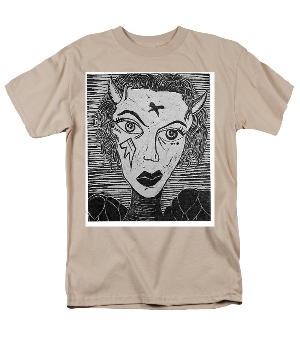 Prints Men's T-Shirt (Regular Fit) featuring the print Devil Print Two Out Of Five by Thomas Valentine