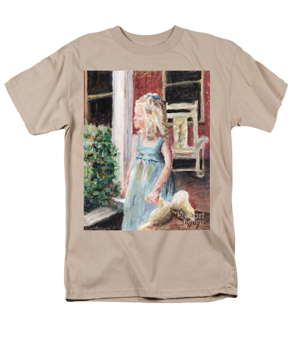 Girl Men's T-Shirt (Regular Fit) featuring the painting Elizabeth Anne by Nadine Rippelmeyer