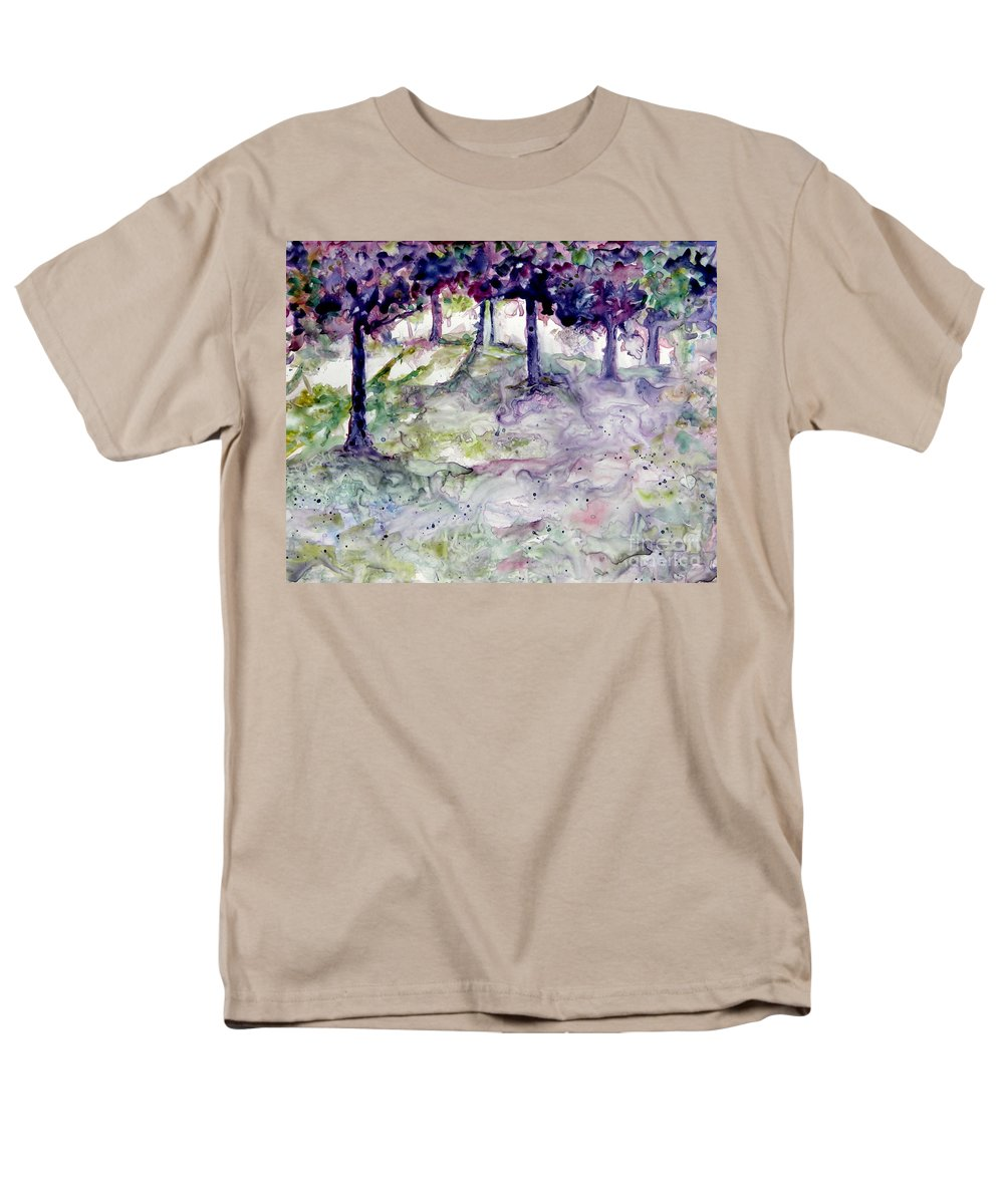 Fastasy Men's T-Shirt (Regular Fit) featuring the painting Forest Fantasy by Jan Bennicoff
