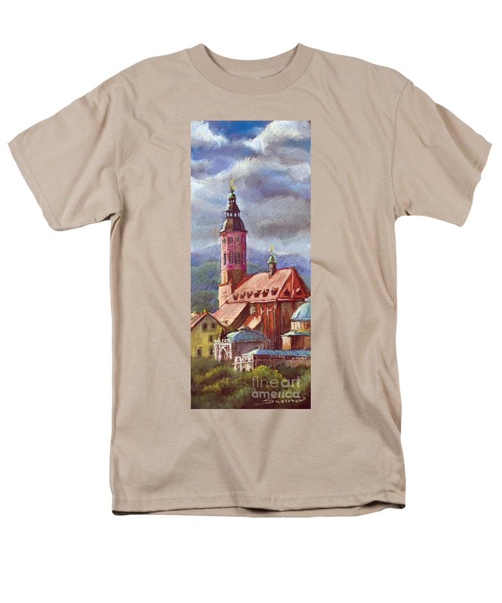 Pastel.germany Men's T-Shirt (Regular Fit) featuring the painting Germany Baden-Baden 05 by Yuriy Shevchuk