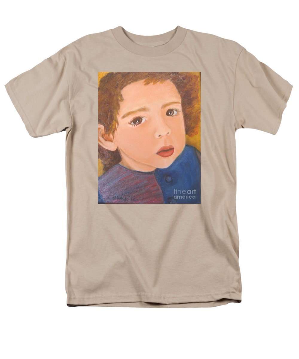 Portrait Men's T-Shirt (Regular Fit) featuring the painting Jackson by Laurie Morgan