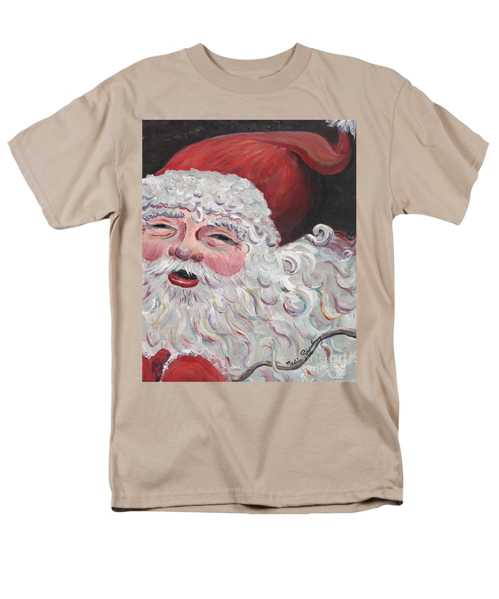 Santa Men's T-Shirt (Regular Fit) featuring the painting Jolly Santa by Nadine Rippelmeyer
