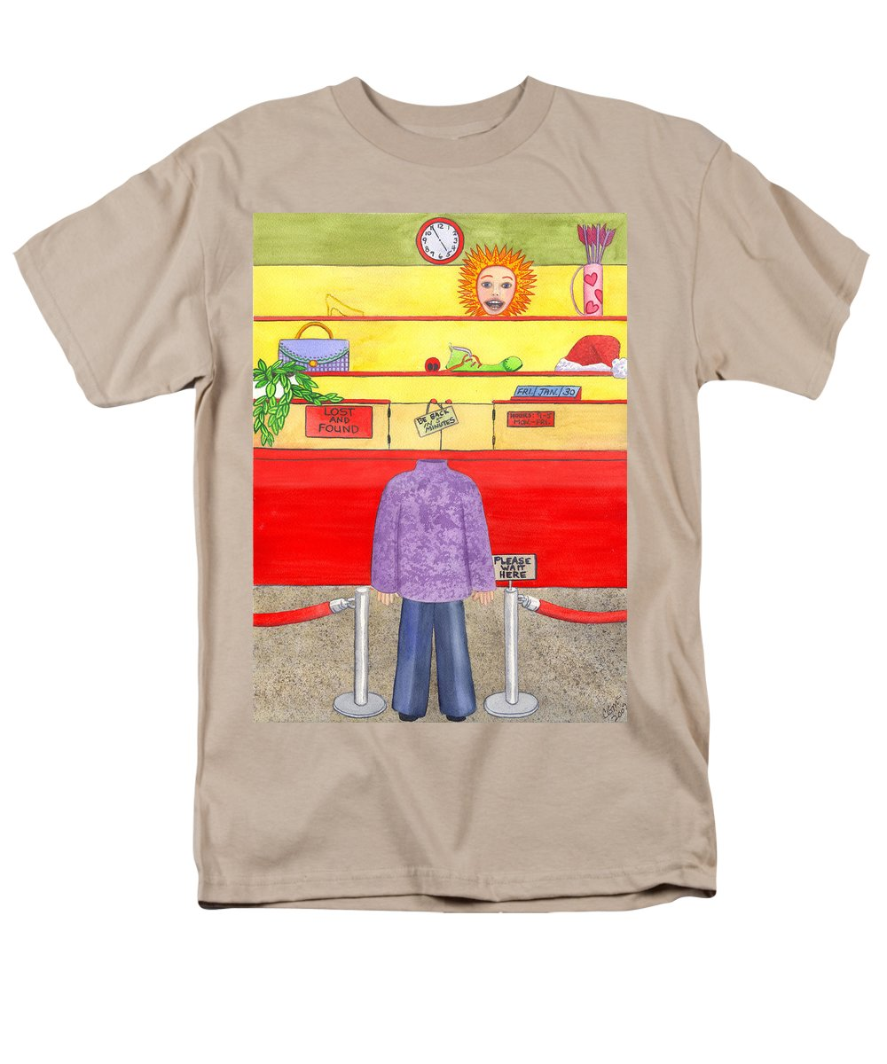 Humor Men's T-Shirt (Regular Fit) featuring the painting Lose Something by Catherine G McElroy