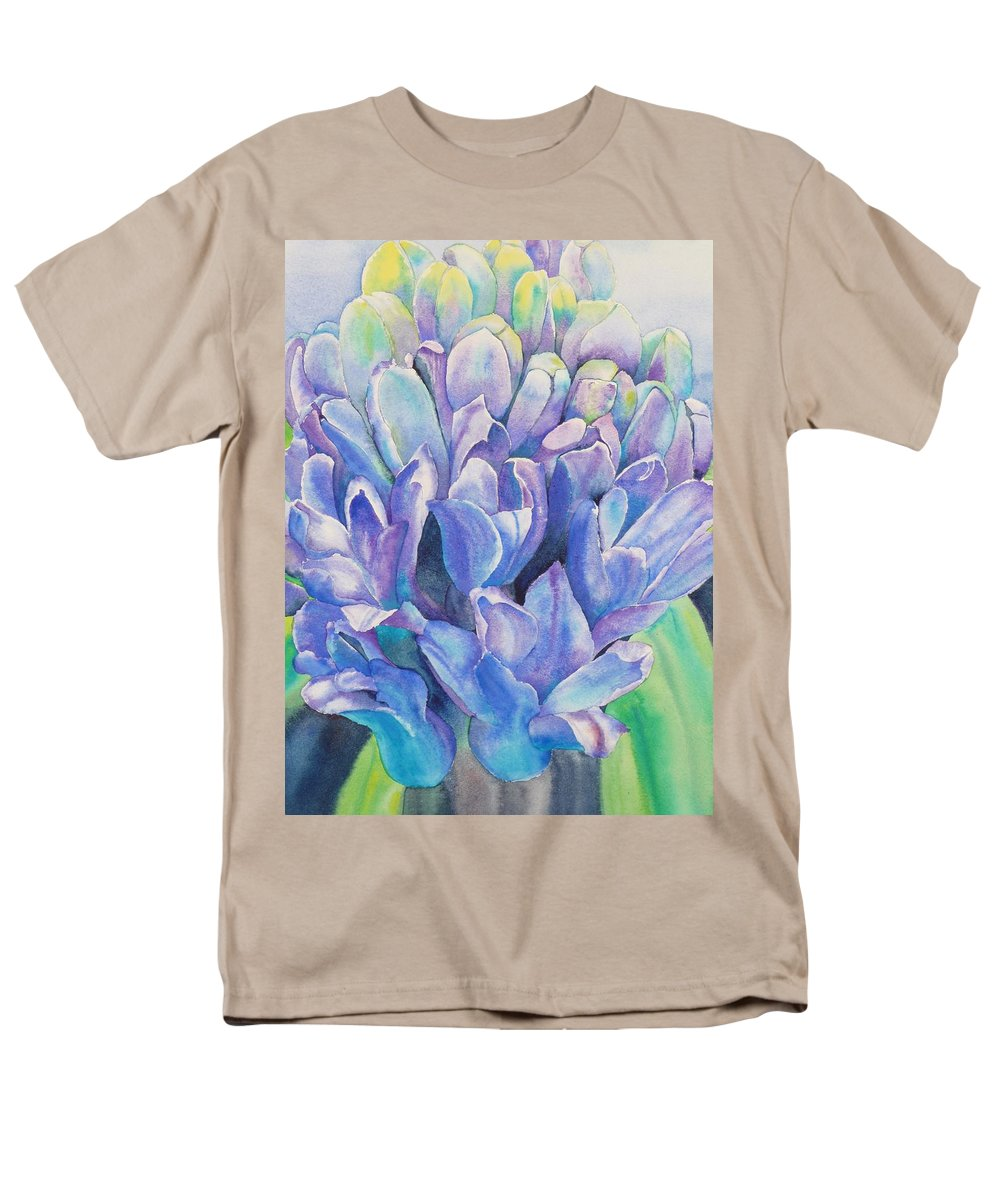 Flower Men's T-Shirt (Regular Fit) featuring the painting Lovely Lupine by Ruth Kamenev
