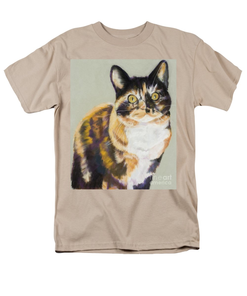 Calico Men's T-Shirt (Regular Fit) featuring the painting Maggie Mae by Pat Saunders-White