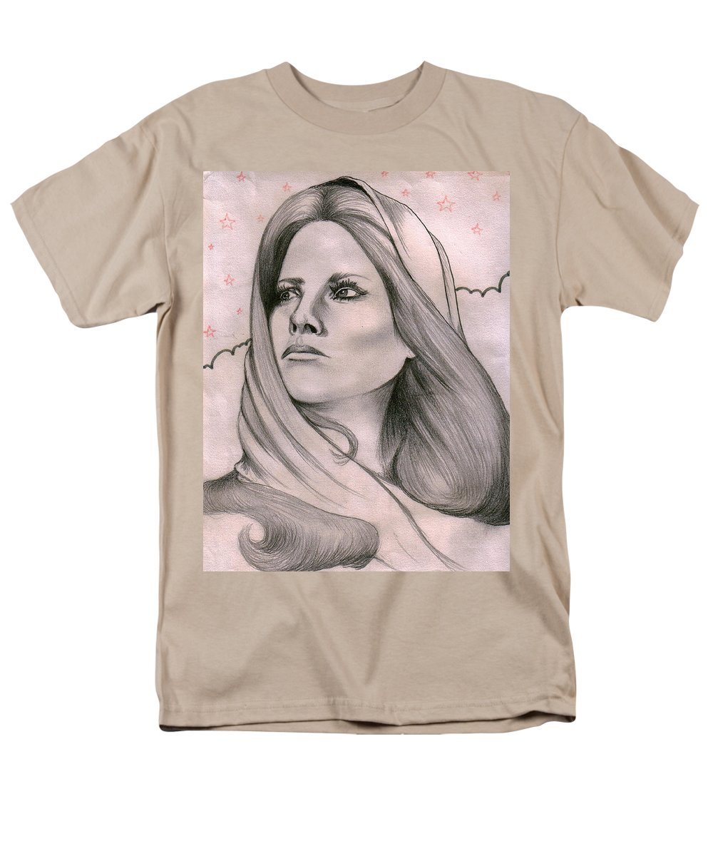 Portrait Men's T-Shirt (Regular Fit) featuring the drawing Misty by Marco Morales