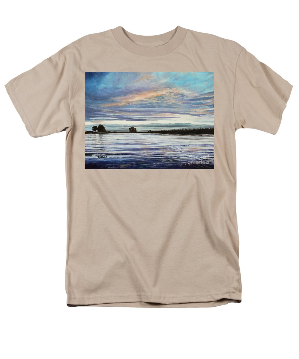 Landscape Men's T-Shirt (Regular Fit) featuring the painting My First Sunset by Elizabeth Robinette Tyndall