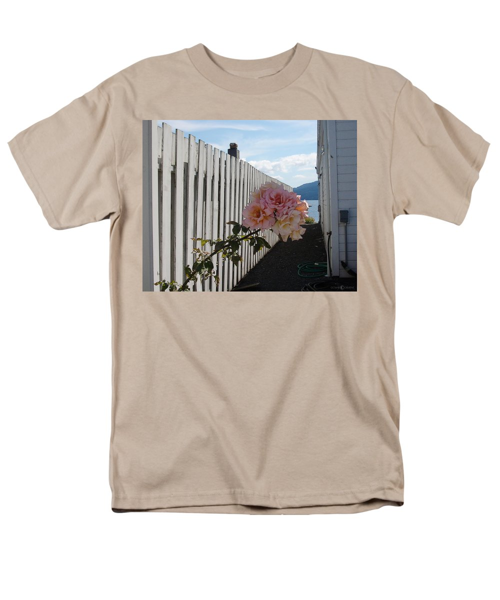Rose Men's T-Shirt (Regular Fit) featuring the photograph Orcas Island Rose by Tim Nyberg