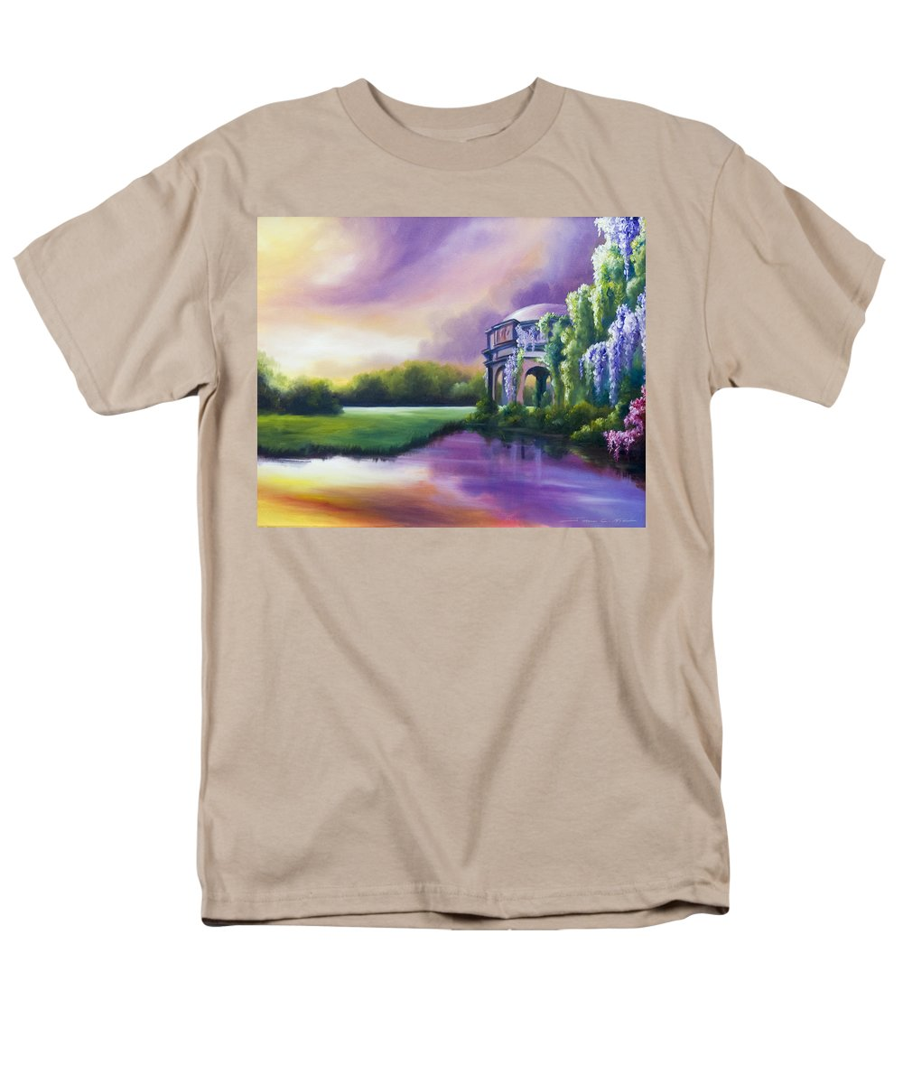 Marsh Men's T-Shirt (Regular Fit) featuring the painting Palace Of The Arts by James Christopher Hill