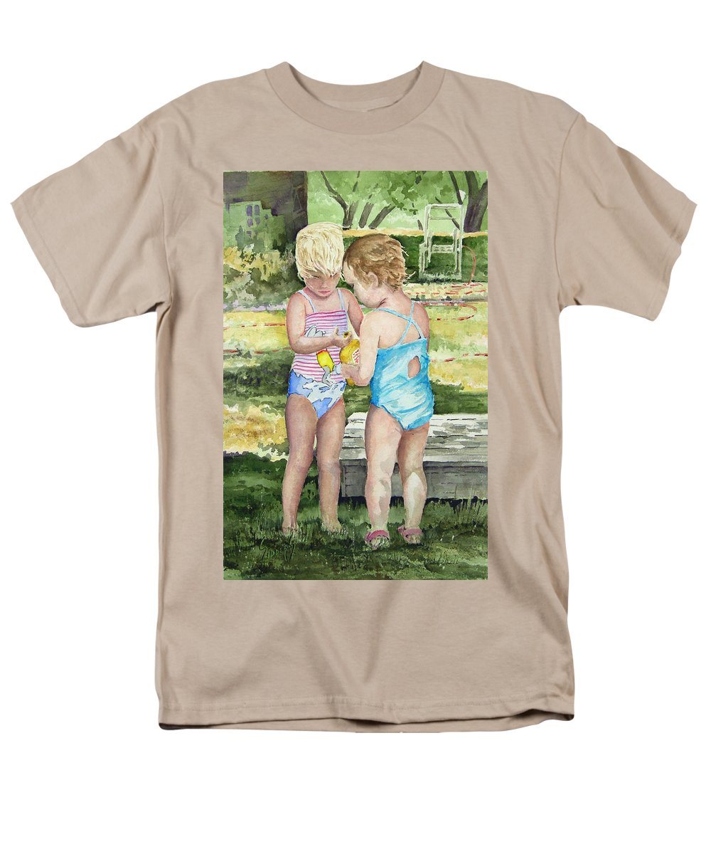 Children Men's T-Shirt (Regular Fit) featuring the painting Pals Share by Sam Sidders