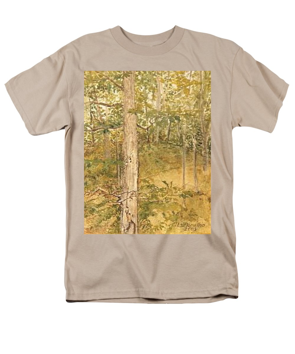 Trees Men's T-Shirt (Regular Fit) featuring the painting Raystown Lake by Leah Tomaino
