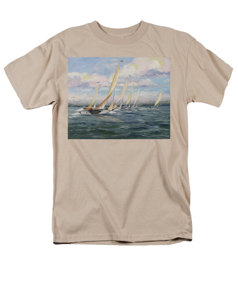 Riding Waves Men's T-Shirt (Regular Fit) featuring the painting Riding the Waves by Jay Johnson
