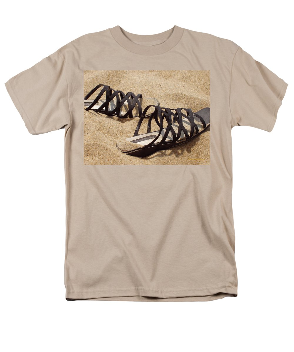Shoes Men's T-Shirt (Regular Fit) featuring the photograph Sand Shoes I by Deborah Crew-Johnson