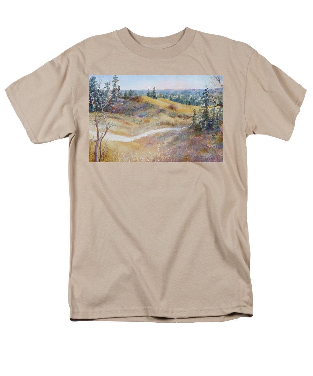 Landscape Men's T-Shirt (Regular Fit) featuring the painting Spirit Sands by Ruth Kamenev