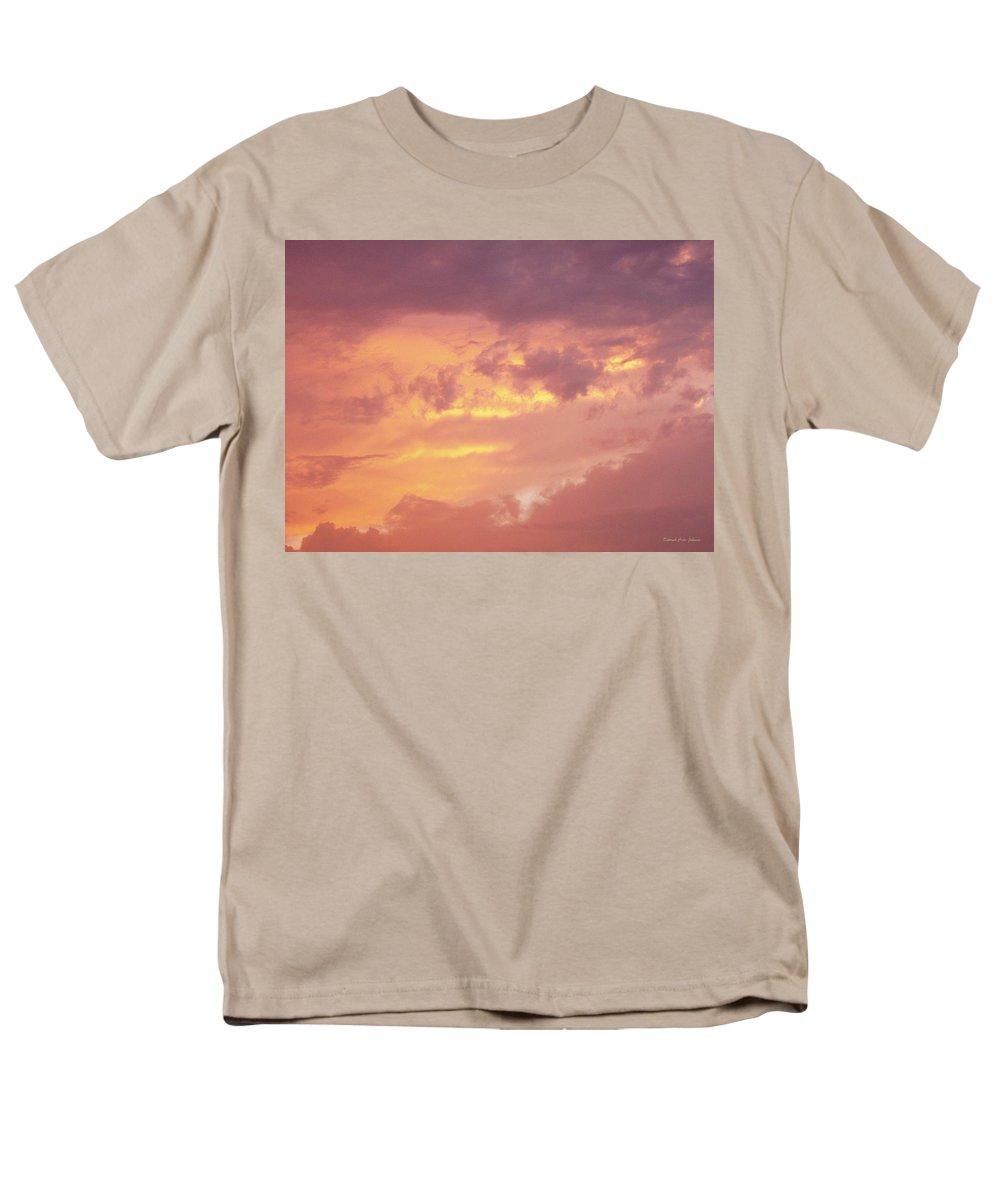 Clouds Men's T-Shirt (Regular Fit) featuring the photograph Storm Clouds by Deborah Crew-Johnson