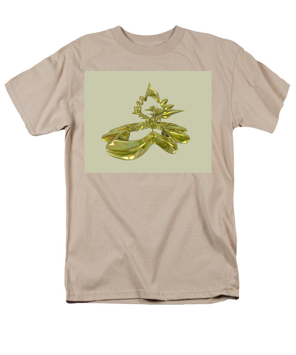 Fractal Men's T-Shirt (Regular Fit) featuring the digital art UFO by Frederic Durville