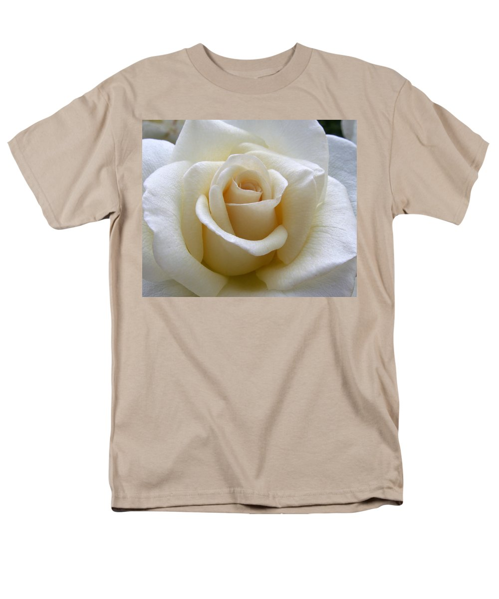 Roses Men's T-Shirt (Regular Fit) featuring the photograph White Rose by Amy Fose