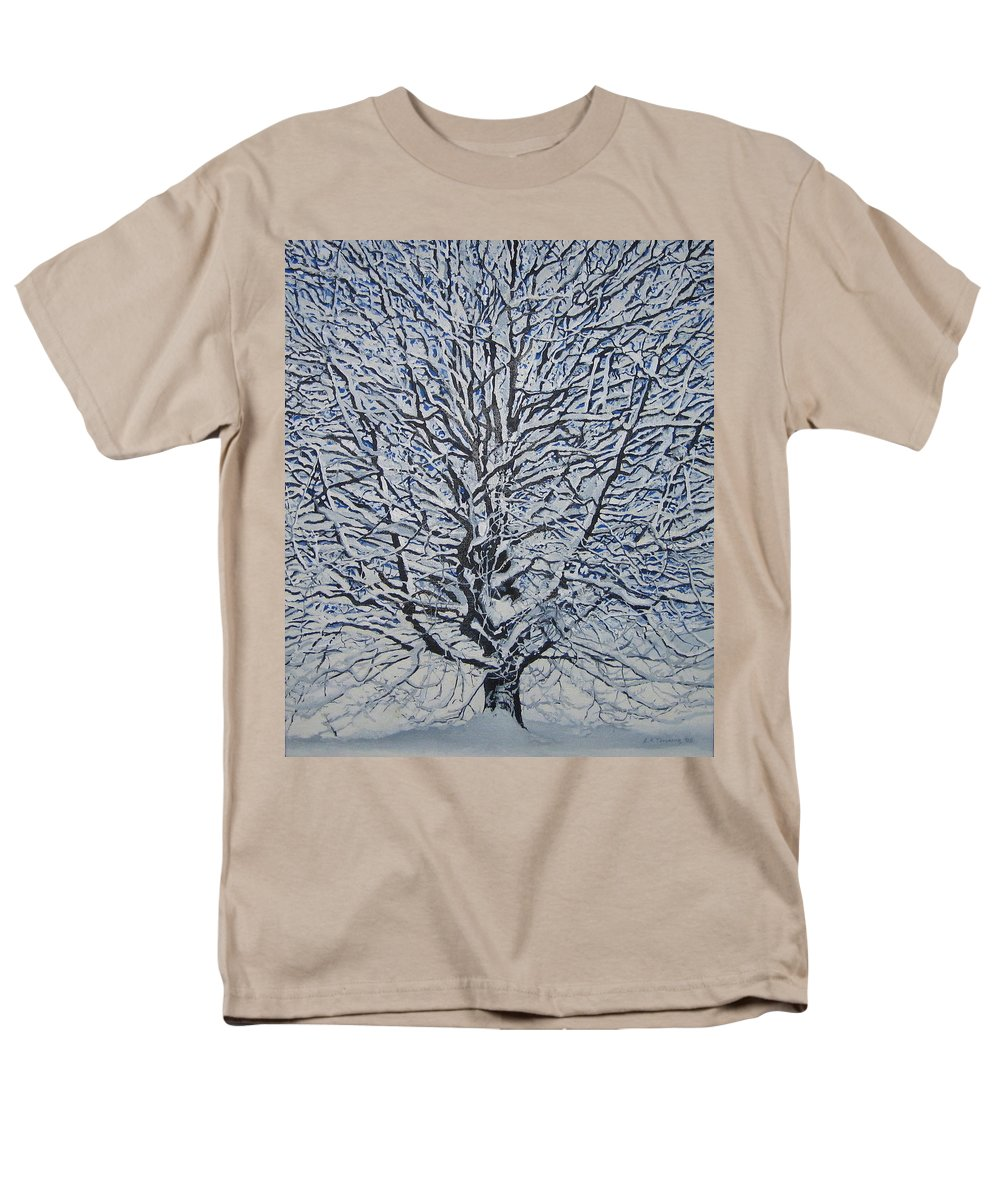 Winter Men's T-Shirt (Regular Fit) featuring the painting Winter '05 by Leah Tomaino