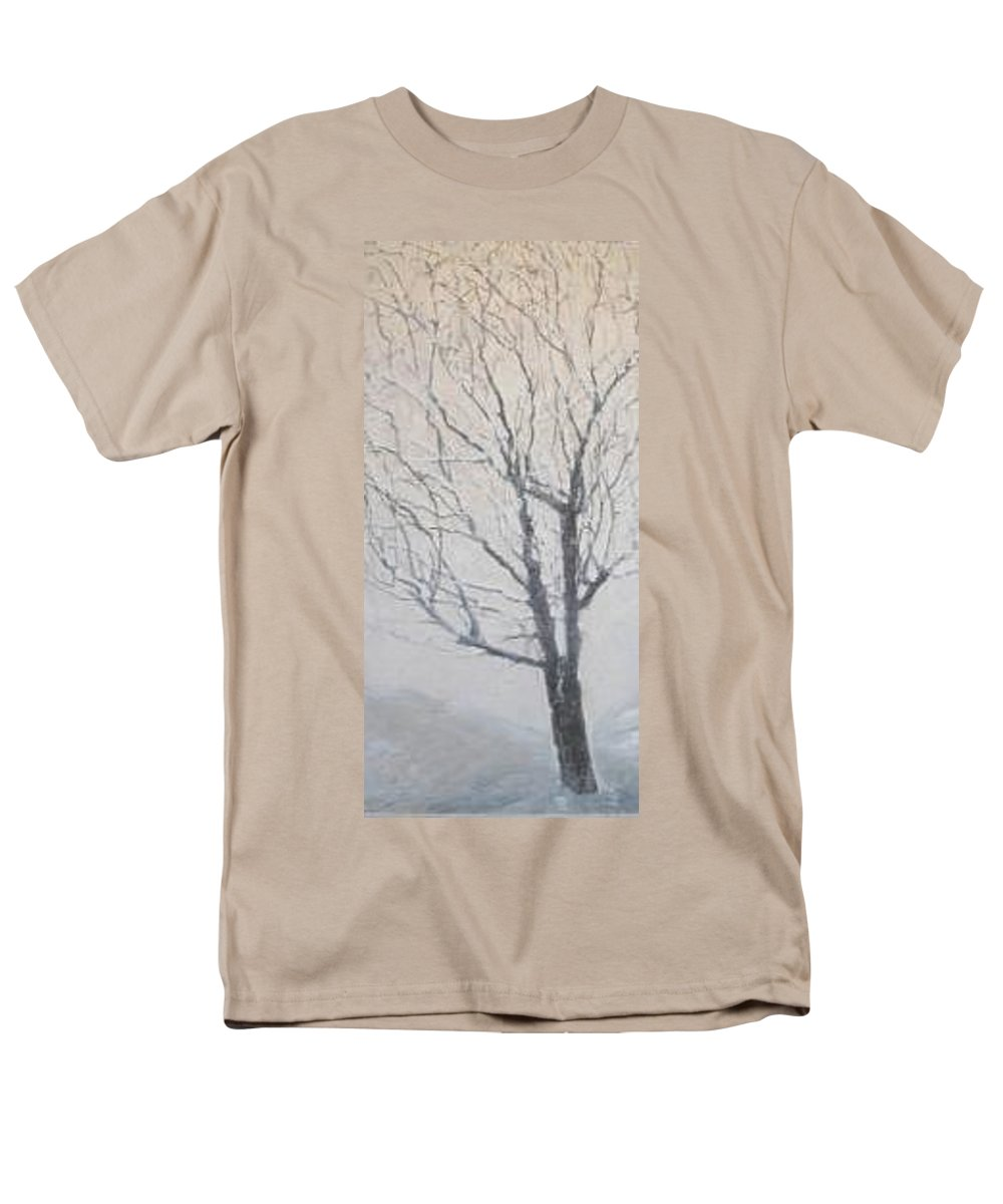 Tree Men's T-Shirt (Regular Fit) featuring the painting Winter by Leah Tomaino