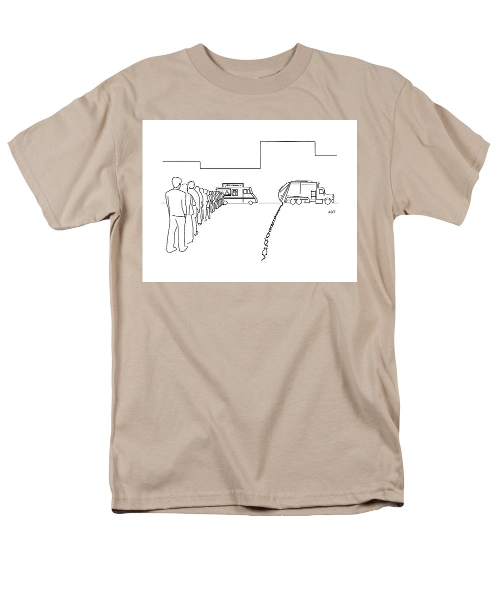 Captionless Men's T-Shirt (Regular Fit) featuring the drawing Lunchtime by Adam Douglas Thompson