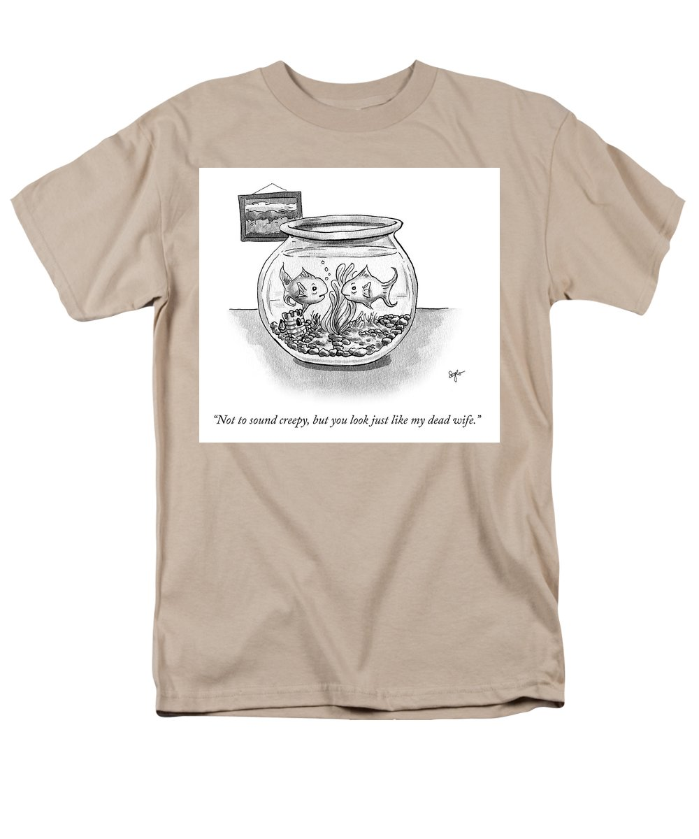 """not To Sound Creepy Men's T-Shirt (Regular Fit) featuring the drawing Not To Sound Creepy But by Sophia Wiedeman"
