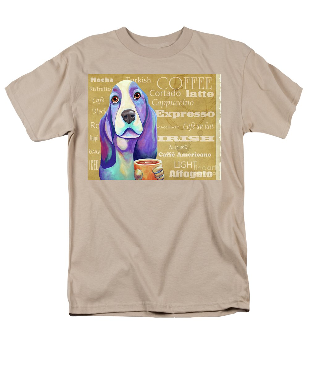 Bassett Men's T-Shirt (Regular Fit) featuring the painting Wake Up Call by Jody Wright